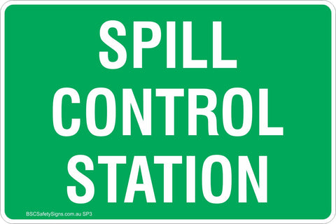 Spill Control Station Safety Sign
