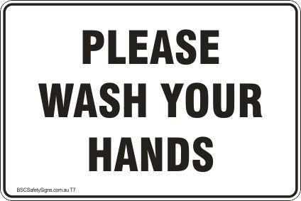 Please wash your hands Safety Signs and Stickers