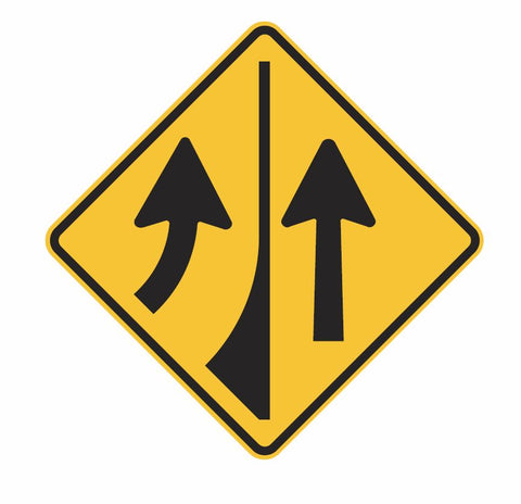 Added Lane (Symbolic) W5-35 Road Sign