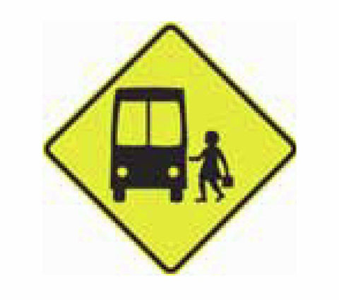 SCHOOL BUS (symbolic - front view) W6-204 Road Sign