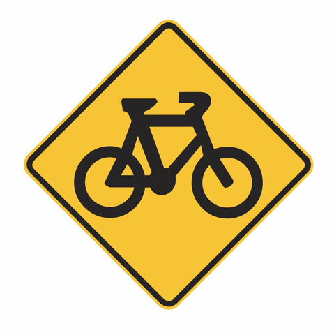 BICYCLE (symbolic) W6-7 Road Sign