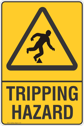 Tripping Hazard Safety Sign