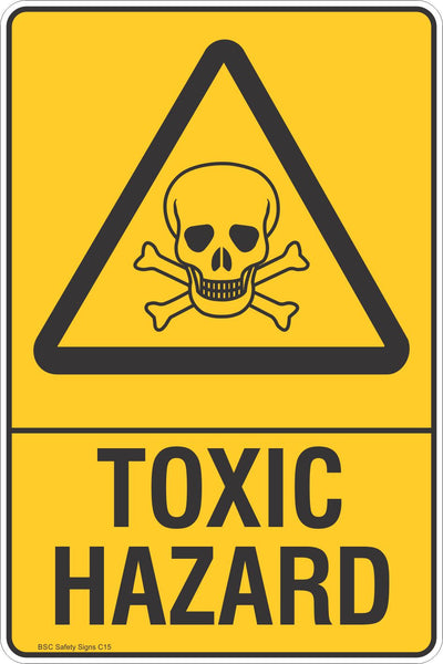 Toxic Hazard - Warning Safety Signs - Stickers - Safety ...