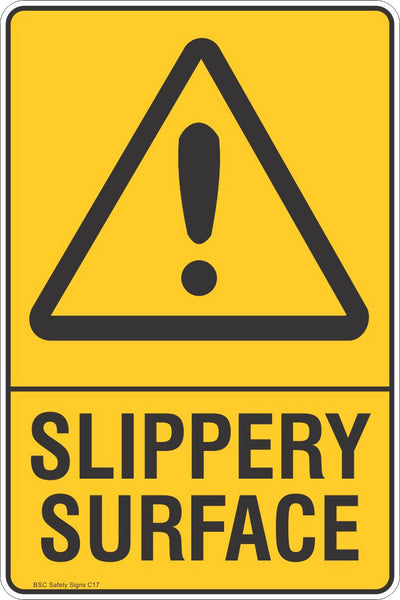Slippery Surface Warning Safety Signs Stickers