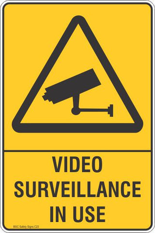 Video Surveillance In Use Safety Sign