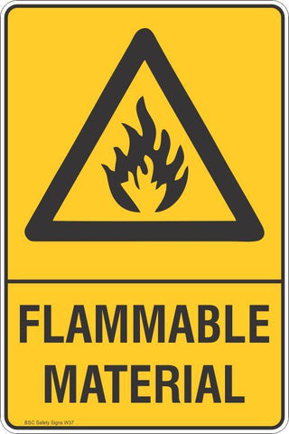 Warning Flammable Material Safety Signs and Stickers Safety Signs and Stickers