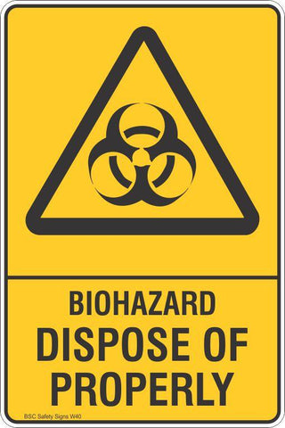 Warning Biohazard Dispose of Properly Hazard Safety Signs and Stickers Safety Signs and Stickers