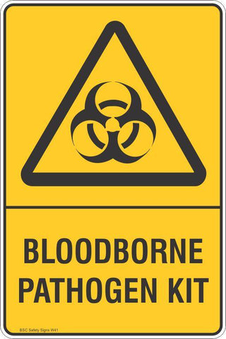 Warning Bloodborne Pathogen Kit Safety Signs and Stickers Safety Signs and Stickers