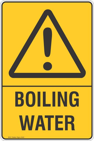 Warning Boiling Water Safety Signs and Stickers Safety Signs and Stickers