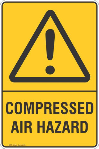 Warning Compressed Air Hazard Safety Signs and Stickers Safety Signs and Stickers