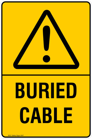 Warning Buried Cable Safety Signs and Stickers Safety Signs and Stickers