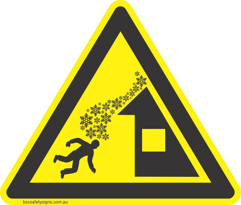 Danger Roof Avalanche Safety Sign & Stickers