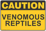 Caution Venomous Reptiles Safety Sign