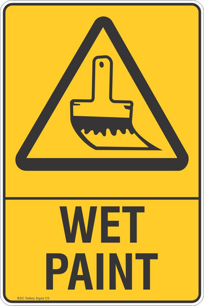 Wet Paint Warning Safety Signs Stickers Safety Signage Bsc Safety Signs Australia
