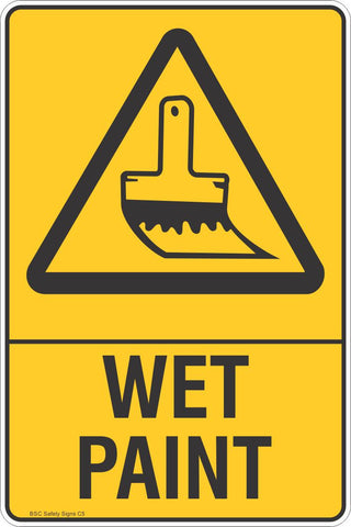 Wet Paint Safety Sign