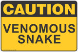 Caution Venomous Snakes Safety Sign