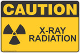 Caution X-Ray Radiation Safety Sign & Stickers