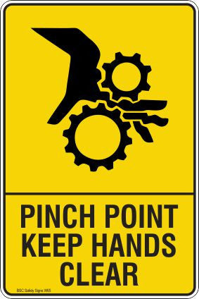 Pinch Point Keep Hands Clear Safety Signs and Stickers Safety Signs and Stickers