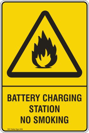 Battery charging station no smoking Safety Signs and Stickers Safety Signs and Stickers