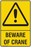 BEWARE OF CRANE Safety Signs and Stickers