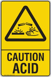 CAUTION ACID Safety Signs and Stickers