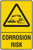 CORROSION RISK Safety Signs and Stickers