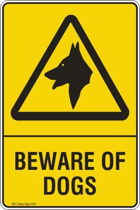 Beware of Dogs Safety Signs and Stickers