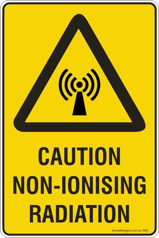 Warning Caution Non-Ionising Radiaton Safety Signs and Stickers
