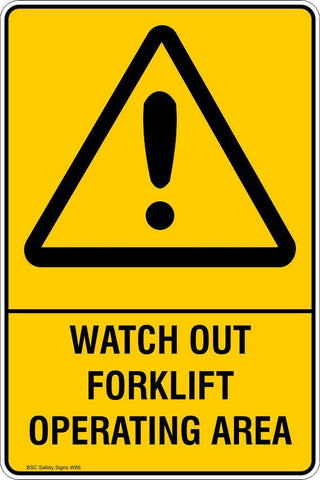 Warning Watch out forklift operating area Safety Signs and Stickers