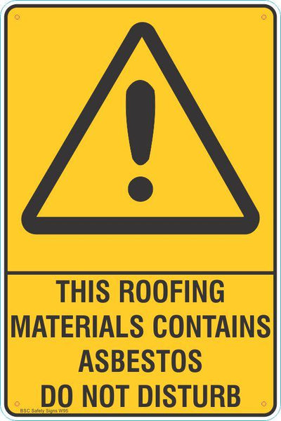 Warning This Roofing Materials Contains Asbestos Do Not