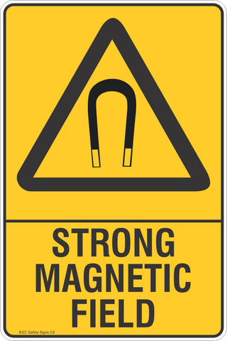 Strong Magnetic Field Safety Sign