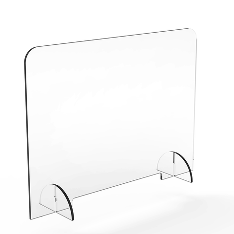 Acrylic Sneezeguard/Perspex Barrier with Interlocking Legs