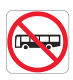 BUSES PROHIBITED (symbolic) R6-10-1 Road Sign