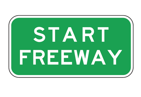 START FREEWAY R6-19 Road Sign