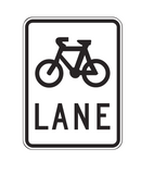 BICYCLE (symbolic) LANE R7-1-4 Road Sign