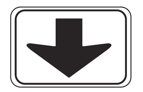 OVERHEAD ARROW (Supplementary Plate) R7-5 Road Sign