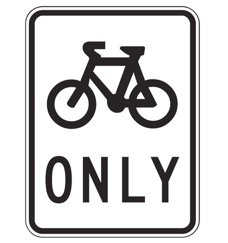 BICYCLE PATH R8-1 Road Sign
