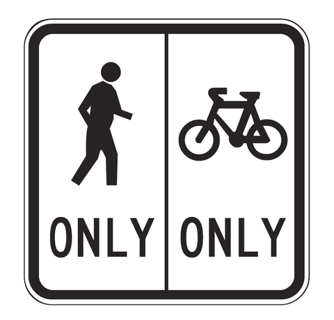 SEPARATED FOOTWAY R8-3 Road Sign