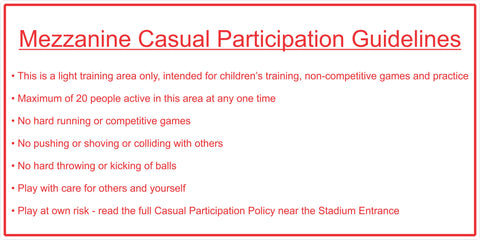 Mezzanine Casual Participation Guidelines