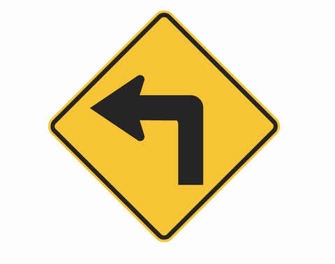 TURN LEFT/RIGHT (symbolic) W1-1 Road Sign