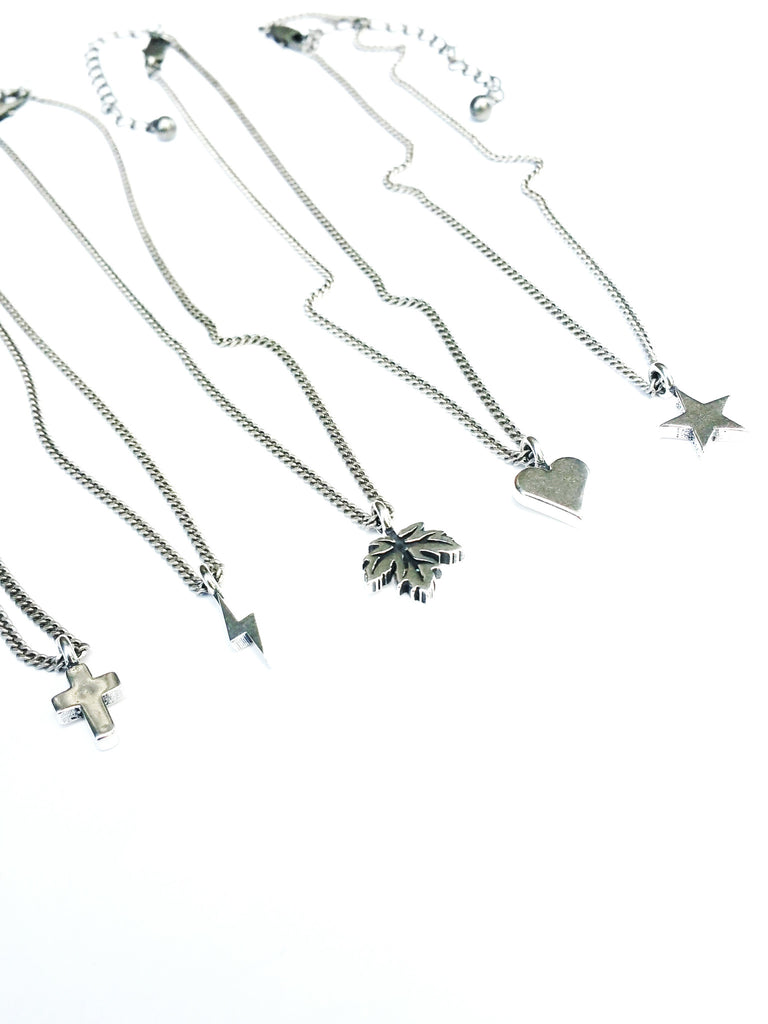 Rocker Bolt Necklace - Sterling Silver Choker Mini