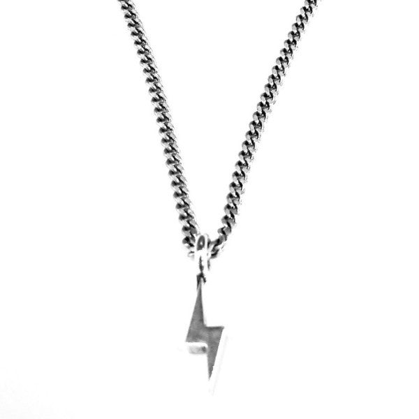 Rocker Bolt Necklace - Sterling Silver HONOR EMBLEM Jewelry Choker