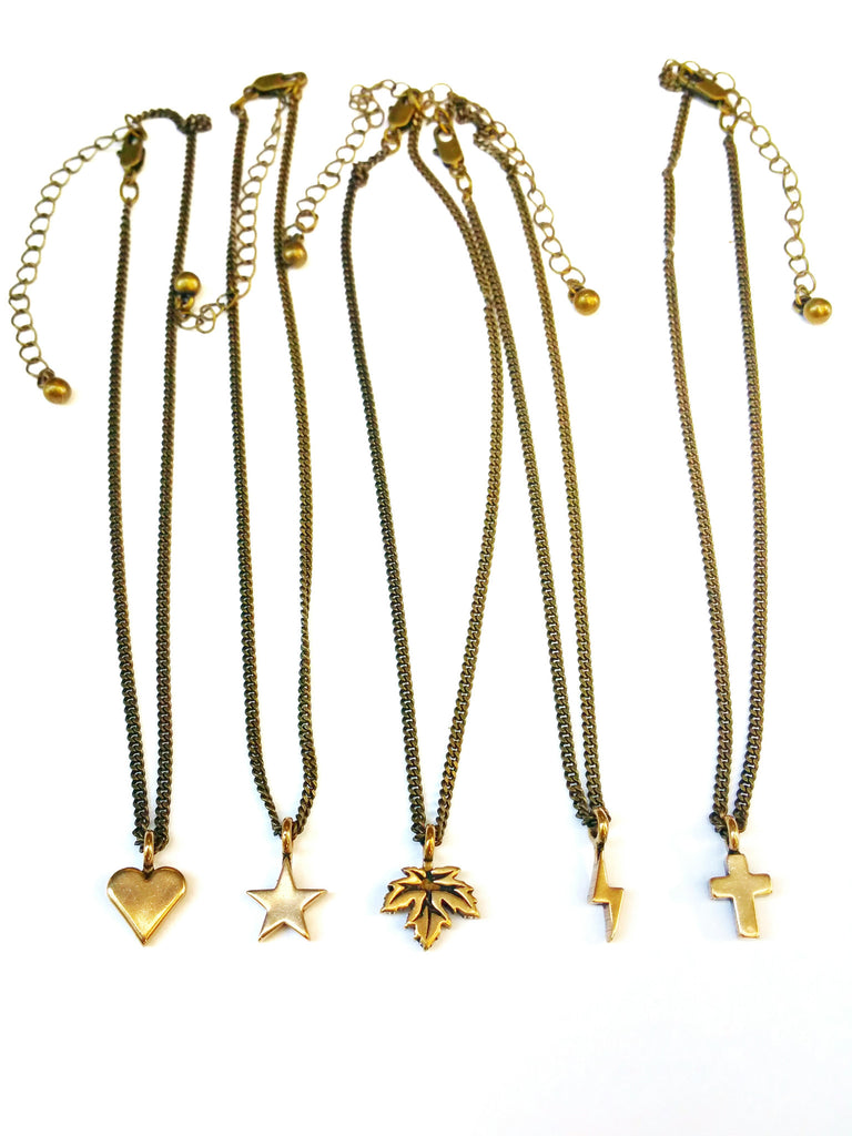 Cross of Comfort Necklace - Bronze Choker Mini