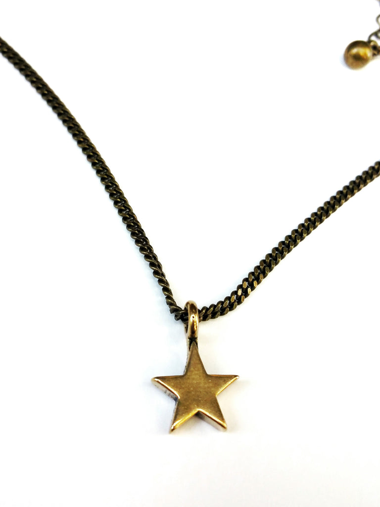 Star of Honor Necklace - Bronze Choker Mini