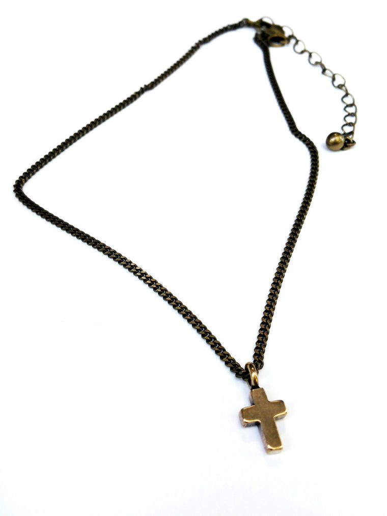 Cross of Comfort Necklace - Red Bronze HONOR EMBLEM Jewelry Choker