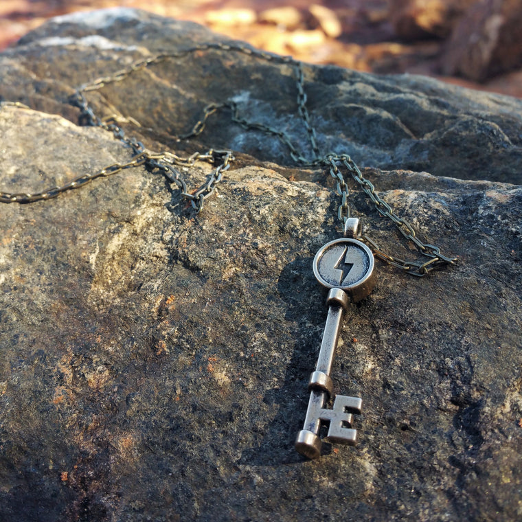 FREEDOM Deliverance Skeleton Key - Red Bronze HONOR EMBLEM Jewelry