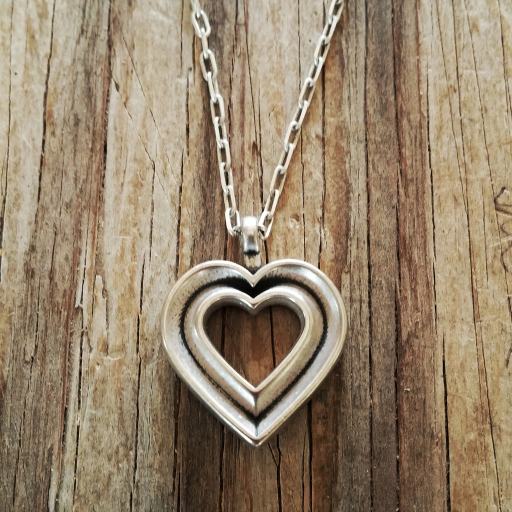 LOVE Heartbeat Necklace - Sterling Silver HONOR EMBLEM Jewelry