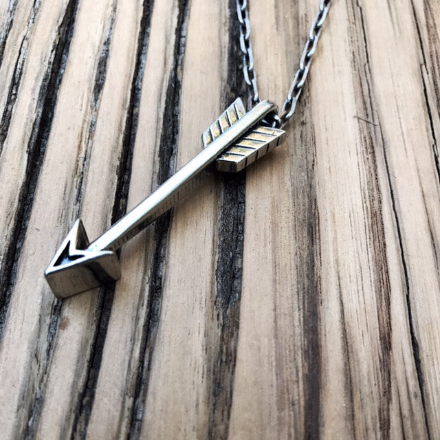 STRENGTH Arrow of Courage Necklace - Sterling Silver HONOR EMBLEM Jewelry