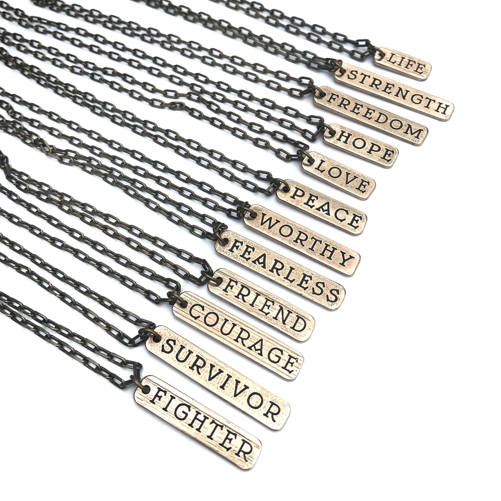 Word of Honor Tattoo Necklace - Bronze