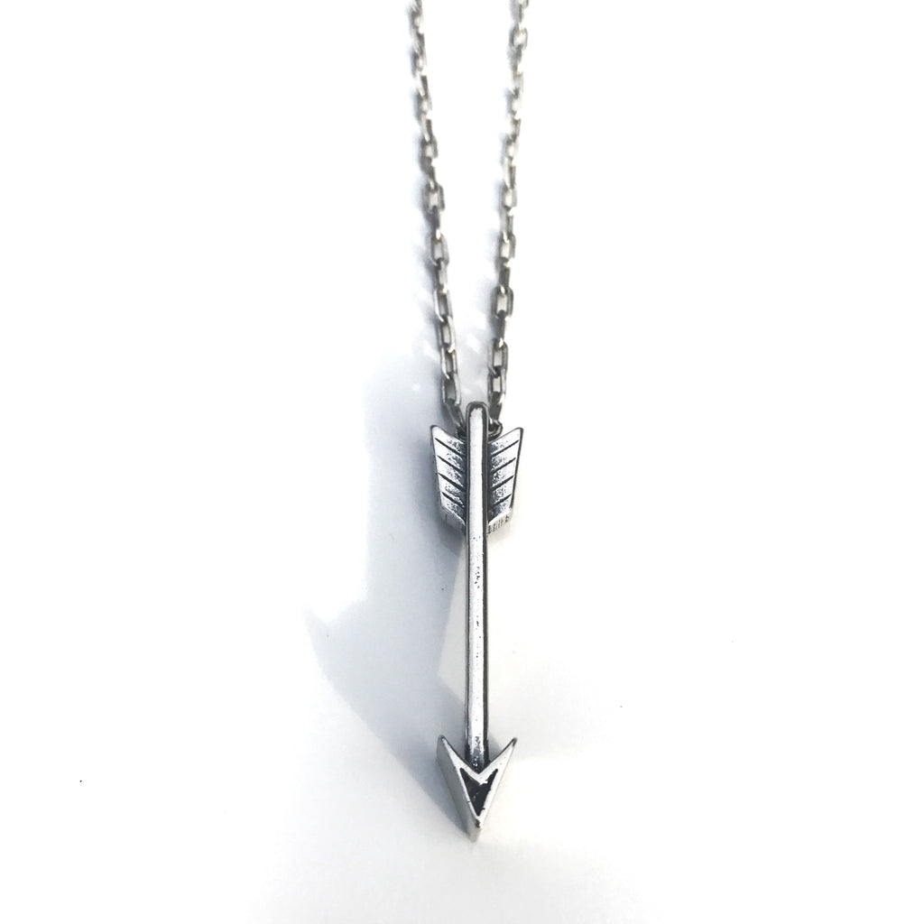 STRENGTH Arrow of Courage Necklace - Sterling Silver